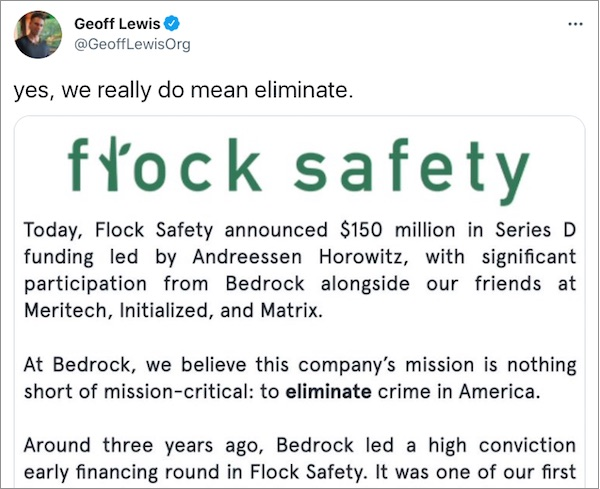 Geoff Lewis: 'yes, we really do mean eliminate.'